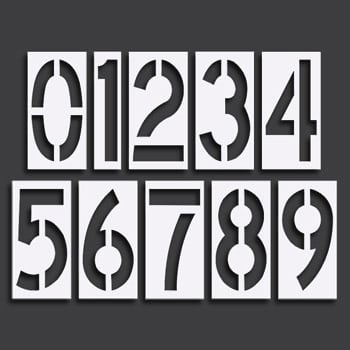 Pavement Stencils Number Sets Transline