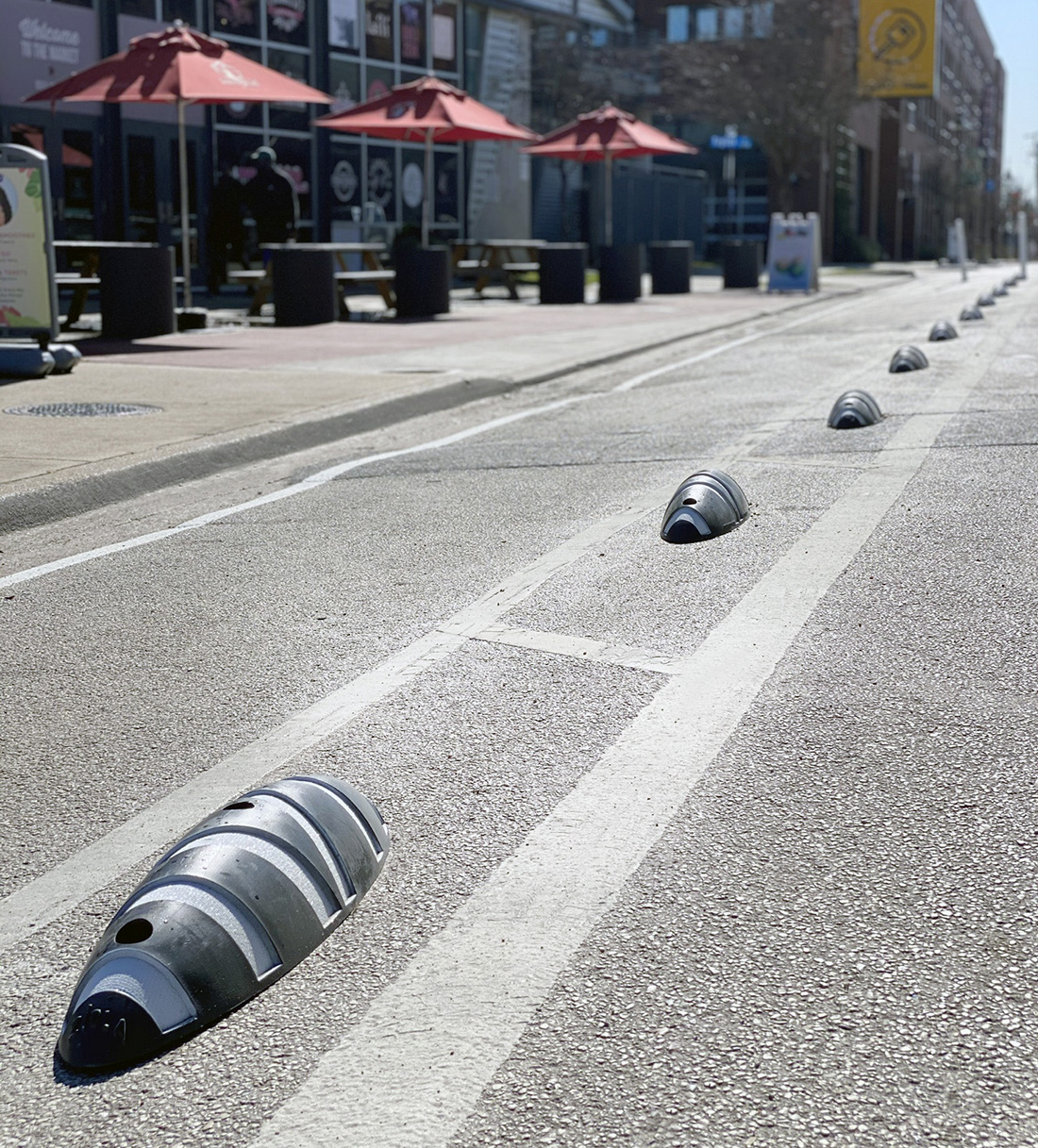 Zicla Zebra Cycle Lane Separator
